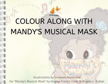 Load image into Gallery viewer, Mandy's Musical Mask Book Colouring Pages