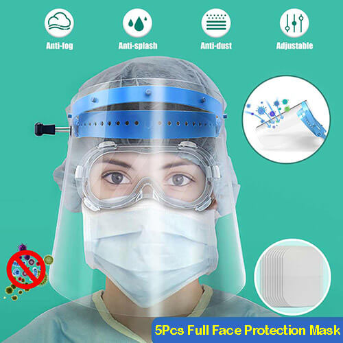 5Pcs Full Face Protection Mask
