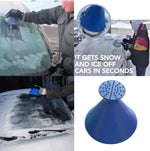 Round Ice Snow Windshield Scraper