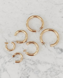 Gold Chunky Hoops