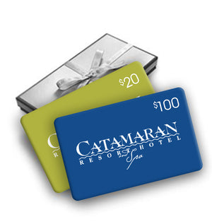 Enjoy a free $20 gift card with your $100 gift card purchase from the Catamaran Resort Hotel and Spa