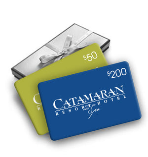 Enjoy a free $50 gift card with your $200 gift card purchase from the Catamaran Resort Hotel and Spa