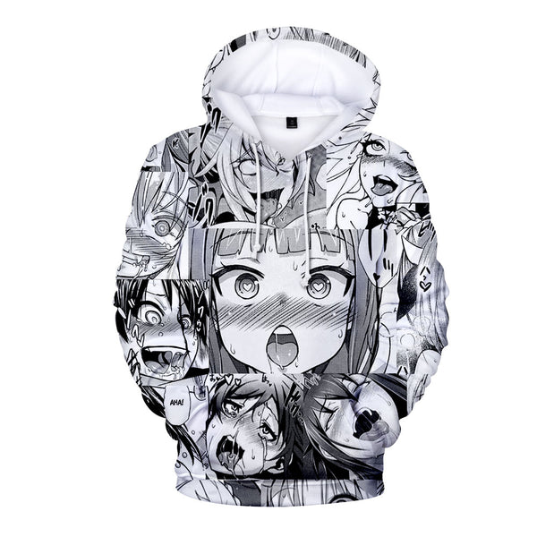 Ahegao Face Hoodie for Men and Women