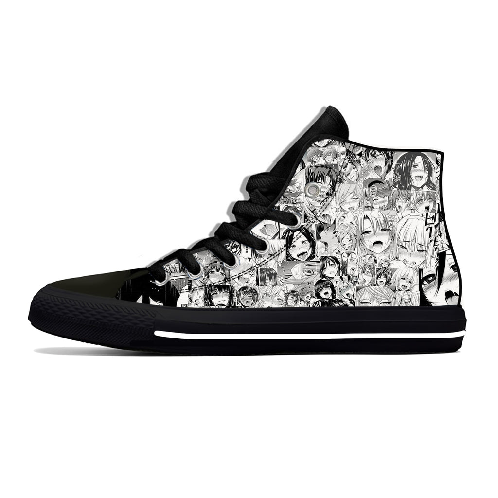 Ahegao Canvas Shoes