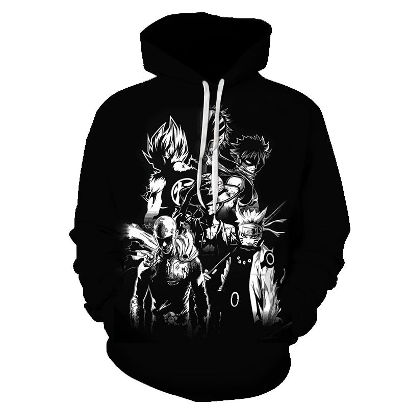 Anime Black Hoodies
