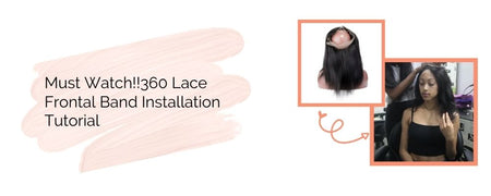 Must Watch!!360 Lace Frontal Band Installation Tutorial