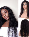 Frontal Lace Wig 150% Density Deep Curly Virgin Hair