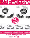 $150 Eyelashes Deal (30 PAIRS) Free Shipping Wholesale Eyelashes