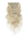 16 to 26 Inch #60 White Blonde 10pcs Body Wave Clip In Human Hair Extensions