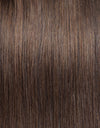 16 to 26 Inch #4 Chocolate Brown 10pcs Straight Clip In Human Hair Extensions