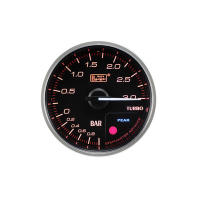 Manomètre 3Bar 52mm Pression de turbo / Boost AUTOGAUGE