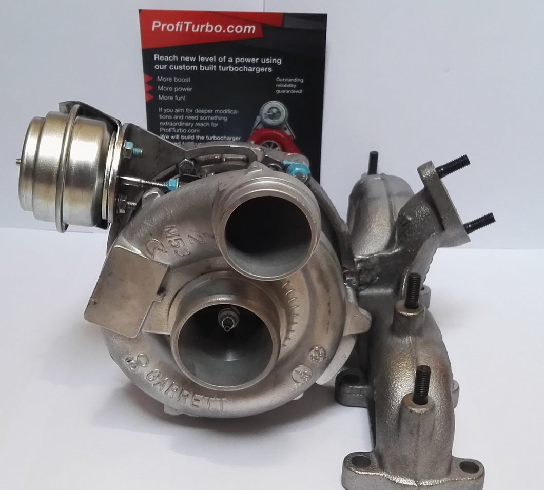 GTB2056VK Billet Wheel Hybrid Turbo vacuum converted and welded onto stock 1.9 2.0TDI by Gottuned