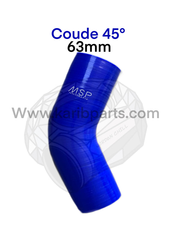 Coude silicone 45° msperformance