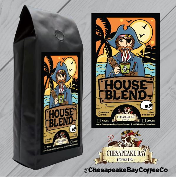 House Blend- Ground 1/2 Ibs.
