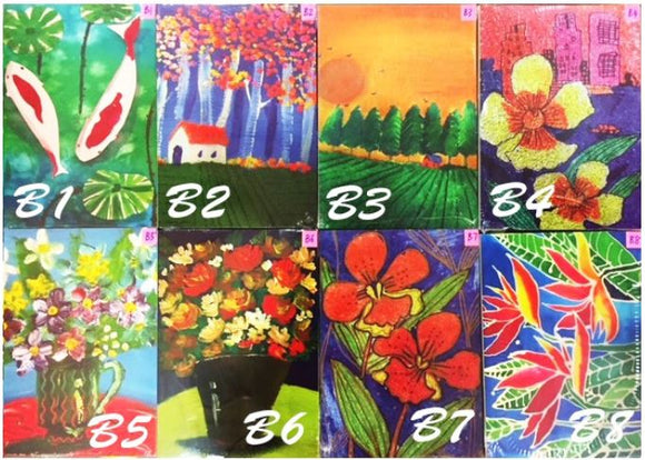 Notebooks with Printed Paintings by CPAS GROW Artists