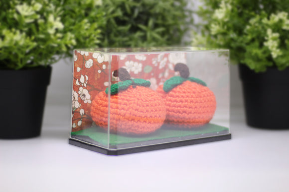 Hand-knitted Mandarin Orange