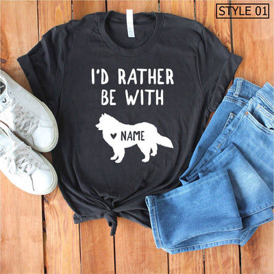Custom Name Samoyed Tee - Unisex Premium T-Shirt Bella + Canvas 3001