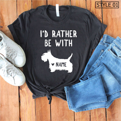 Custom Name Scottish Terrier Tee - Unisex Premium T-Shirt Bella + Canvas 3001