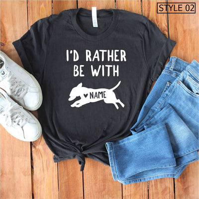 Custom Name Bull Terrier Tee - Unisex Premium T-Shirt Bella + Canvas 3001