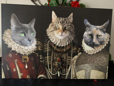 The Three Queens - Custom Pet Canvas