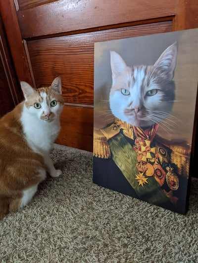 The Colonel - Custom Pet Canvas