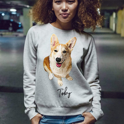 Custom Dog Sweatshirt - Unisex Crew Neck Sweatshirt  Gildan 18000