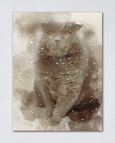 Pet Watercolor Painting - Custom Pet Canvas