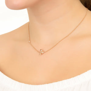 Queen Bee Necklace Rosegold - Zip & Mos