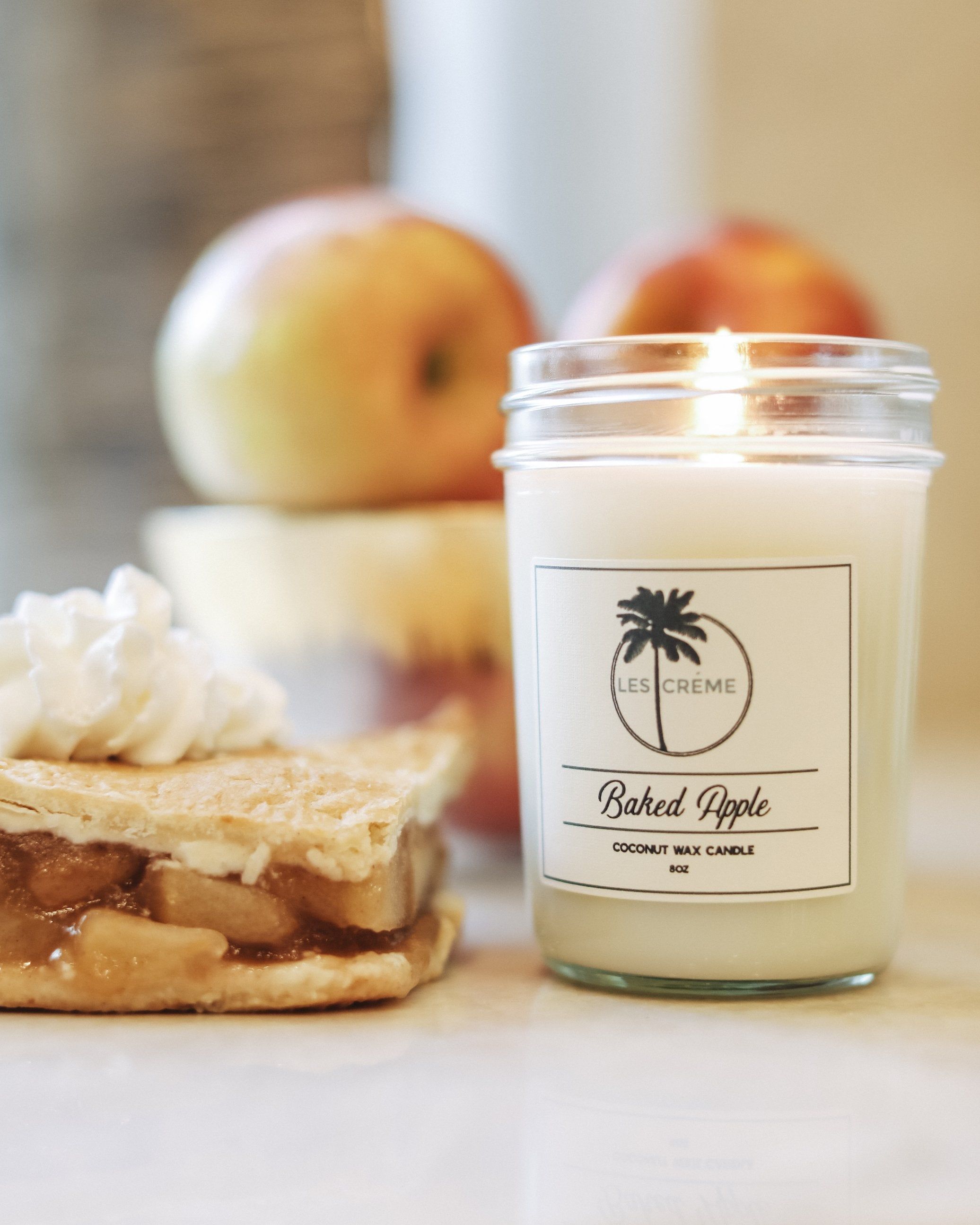 Baked Apple Scent Coconut Wax Candle - Zip & Mos
