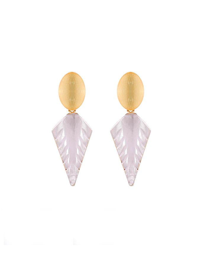 Sophia Pink Quartz Earrings - Zip & Mos