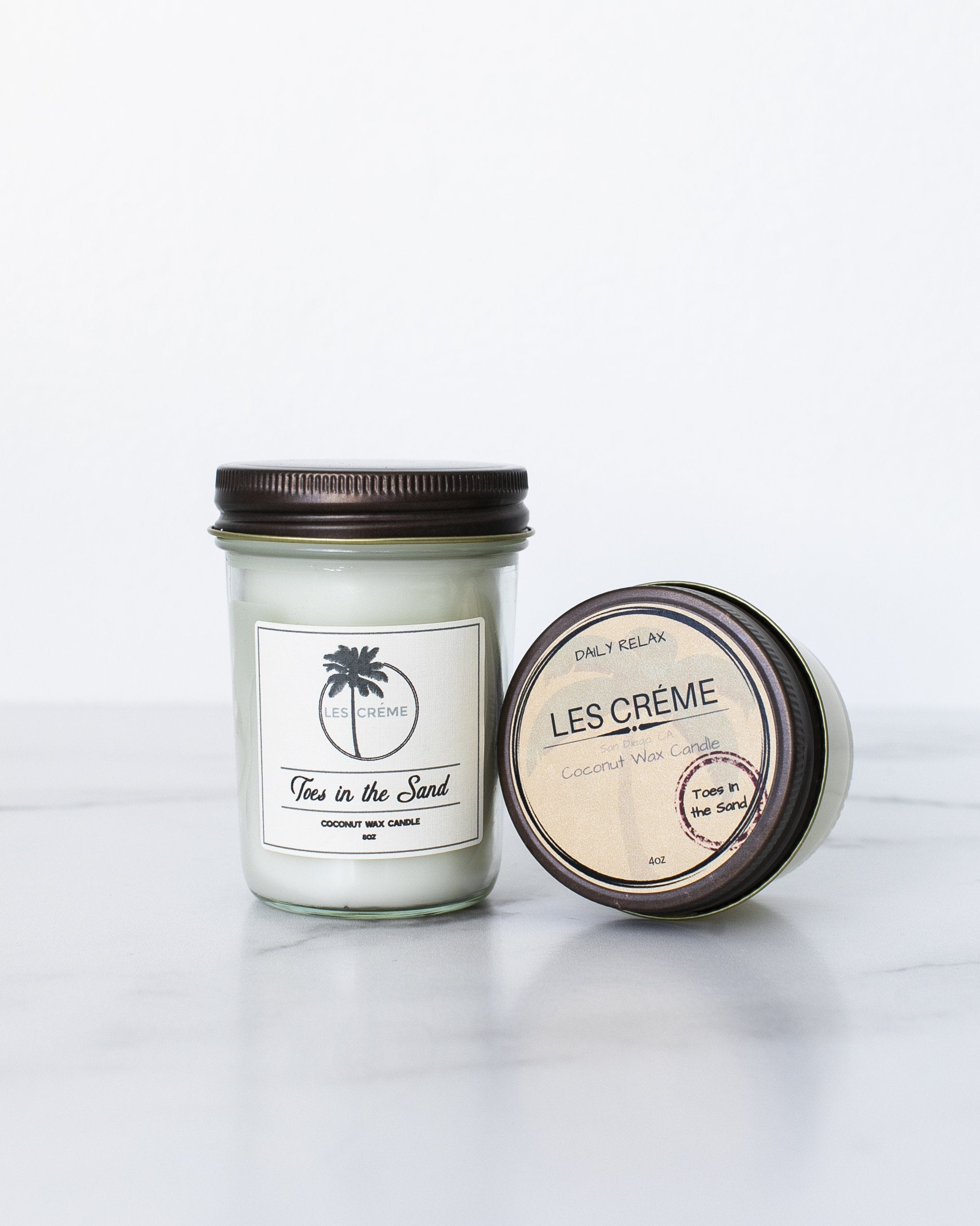 Toes in the Sand Scent Coconut Wax Candle - Zip & Mos