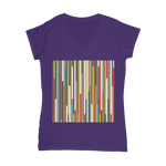 Load image into Gallery viewer, Abstract Art Classic Women's V-Neck T-Shirt - Zip & Mos