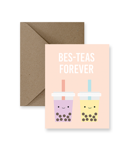 Bes-Teas Forever Greeting Card - Zip & Mos