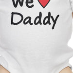 Load image into Gallery viewer, We Love Dad White Cute Baby Onesie Cotton Fathers - Zip & Mos