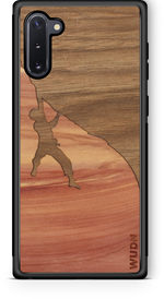 Load image into Gallery viewer, Slim Wooden Phone Case | Rock Climber Inlay - Zip & Mos
