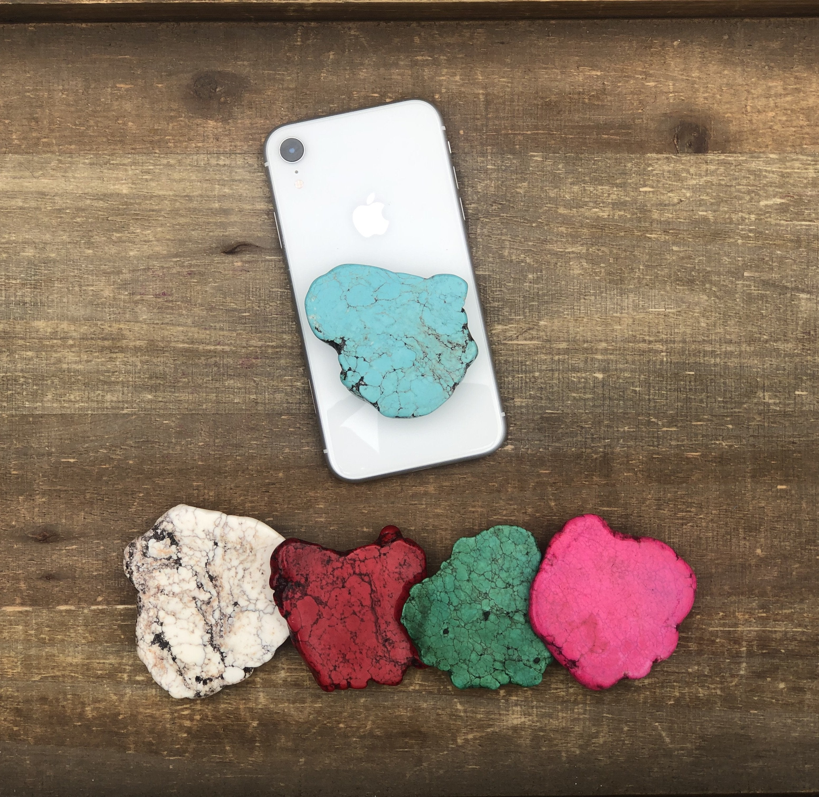 Natural Stone POP Phone Grips - Zip & Mos