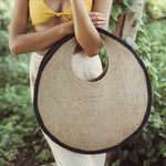 Load image into Gallery viewer, SOLO Halo Jute Straw Bag - Zip & Mos