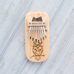 Load image into Gallery viewer, Owl Engraved Thumb Piano - Zip & Mos