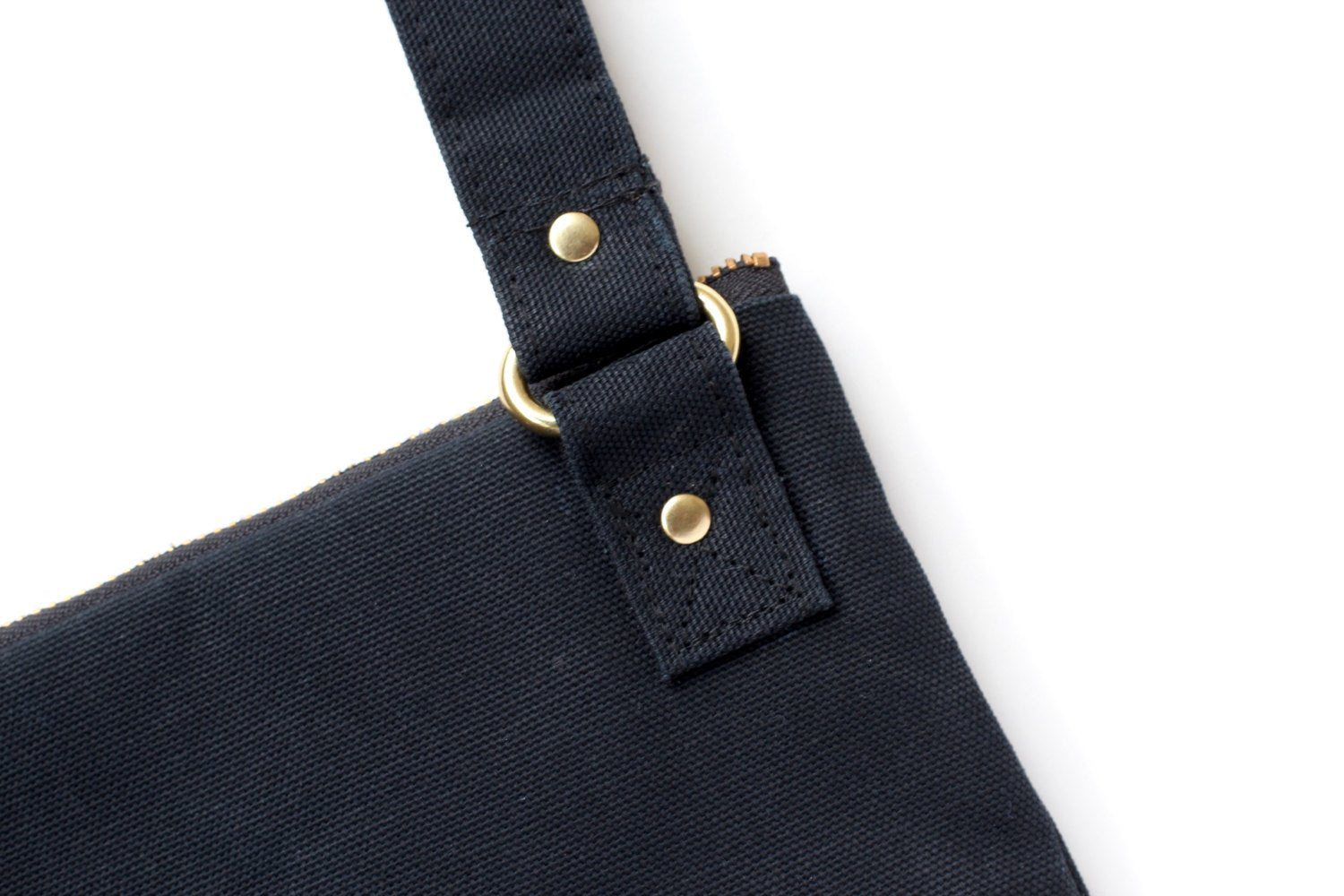 Amelia Crossbody In Black Waxed Canvas - Zip & Mos