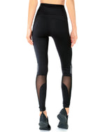 Load image into Gallery viewer, Energique Athletic Leggings With Reflective Strips and Mesh Panels - Zip & Mos