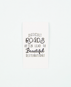 Difficult Roads Magnetic Bookmark - Zip & Mos