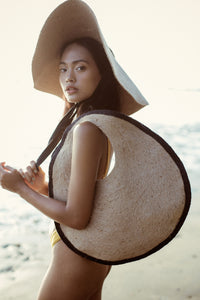 SOLO Halo Jute Straw Bag - Zip & Mos