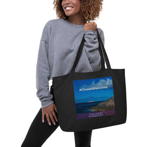 #ChosenOnesUnite Large Organic Tote Bag - Zip & Mos