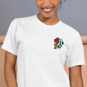 Mother Africa Women's Embroidered T-Shirt - Zip & Mos