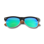 Load image into Gallery viewer, Real Zebra Wood Browline Style RetroShade Sunglasses by WUDN - Zip & Mos