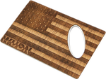 Load image into Gallery viewer, American Flag Wood Credit Card Bottle Opener - Zip & Mos
