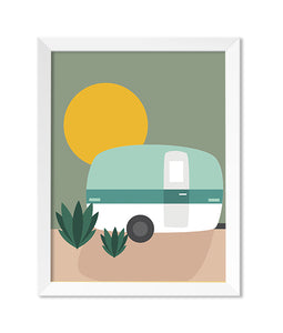 Camp Flat Illustration Art Print - Zip & Mos