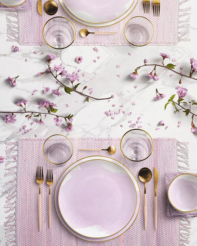 chindi placemat in lilac - Zip & Mos