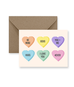 Load image into Gallery viewer, Candy Heart Valentine's Day Card - Zip & Mos
