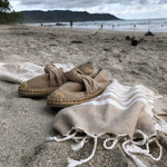 Load image into Gallery viewer, Fethiye Striped Ultra Soft Eco-Friendly Turkish Towel - Beige - Zip & Mos